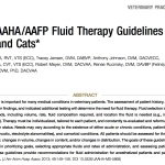 AAHA:AAFP Fluid Therapy Guidelines for Dogs and Cats